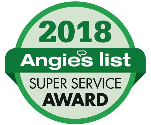 Award badge for Angies List Super Service Award 2018