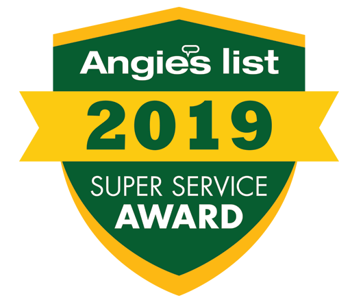 Award badge for Angies List Super Service Award 2019